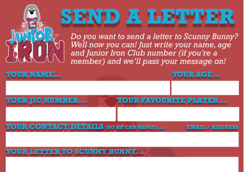 Send a letter to Scunny Bunny...