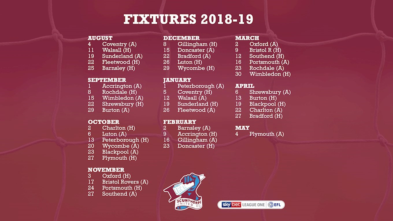 UPDATED: Download 2018/19 Fixture Wallpaper For Your